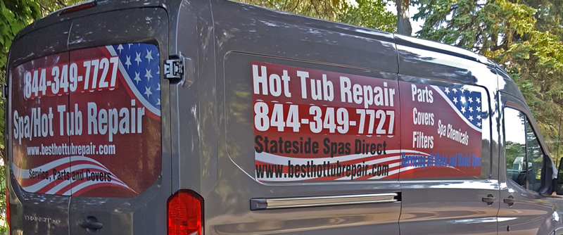 Stateside Spas Direct service van